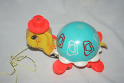 Fisher-price 773 Pull Toy Turtle Excellent Condition
