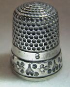 296 Abstract Design Sterling Silver Thimble - Simons Bros Co Size 8