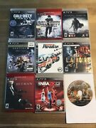 Ps3 Lot 9 Games Call Of Duty World At War Ghosts Burnout Paradise Shadow Mordor