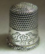 298 Birds Sterling Silver Thimble - Simons Bros Co Size 8