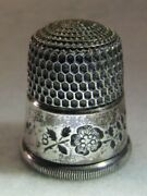 299 Floral Band Sterling Silver Thimble - Simons Bros Co Size 8