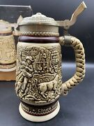 1981 Avon Western Roping Chuck Wagon Cattle Drive Beer Stein From Brazil