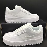 New Nike Air Force 1 Shadow Low Womenand039s Sneakers Multi Size White Ci0919-100