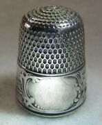 302 Landscape Gray Sterling Silver Thimble - Simons Bros Co Size 9