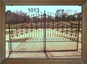 Wrought Iron Style Steel Driveway Entry Gate 1013 12' Wd Home Yard Security
