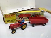 Dinky Toys - Gift Set 399 Farm Tractor Massey Ferguson And Trailer Set - Mb