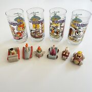 Vintage 1991 Hardees Flintstones 30th Anniversary Collectible Glasses And Toys