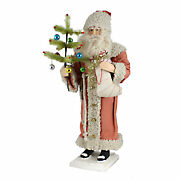 Christmas Vintage Santa With Stocking Tree Ornaments Candy Cane Td7683