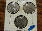 1943-p,d,s Wwii Lincoln Wheat Penny Set Obo Make An Offer