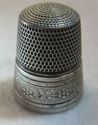 316 Floral Band Sterling Silver Thimble - Simons Bros Co Size 11