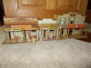 Vintage Marx Roy Rogers Mineral City Western Town Tin Lithograph W/people As Is