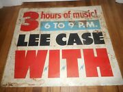 Vintage With Baltimore Md Radio Station Starring Lee Case Metal Advertising Sign