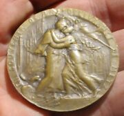 France 1918 Bronze Table Medal Liberation Of Metz