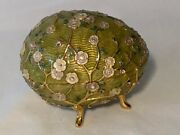 Joan Rivers Imperial Treasure Green Faberge Egg Blossom Retired 2008 And Necklace