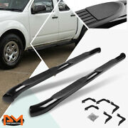 For 05-20 Frontier Ext/king Cab Round 3 Side Step Nerf Bar Running Board Black