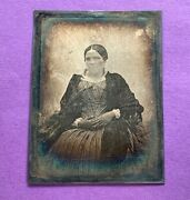 French Likely Noël Lerebours Photographer 1/4 Plate Daguerreotype Photo 1845