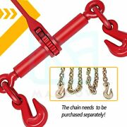 4 Pack Ratchet Chain Load Binder 1/4-5/16 Tie Down Rigging Equipment 2600 Lbs