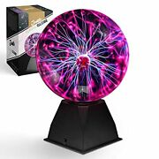 Plasma Ball Light 8 Inch Sound Touch Activated Tesla Orb Lamp Decoration 12v Dc
