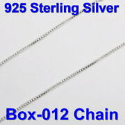 925 Sterling Silver Fine 0.8mm Box 012 Chain Bulk By The Foot Wholesale Lots