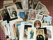 Nice Lot Of Prayers Holy Cards 1950 - 1960's More Then 100 Pcs. From Italy