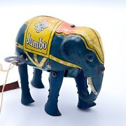 Rare Vintage Jumbo Elephant Wind Up Works D.r.g.m. Germany Patent Applied Jf14