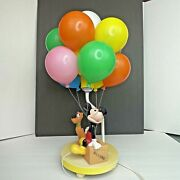 The Walt Disney Company Mickey Mouse And Pluto Balloon Lamp Vintage