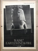 Earth Wind And Fire Raise Poster Sized Original Music Press Advert From 1981 -