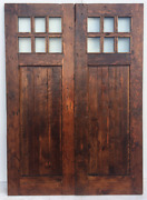 Rustic Reclaimed Lumber Double Barn Solid Wood Doors 72 X 82 1.5 Thick W/rail