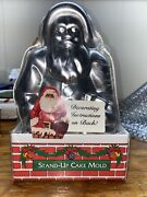 Nordic Ware Santa Claus Stand Up Cake Mold Pan 3d 2-piece Vintage Instructions