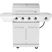 4-burner Propane Gas Grill With Side Burner 60,000 Btu Barbecue Stainless Steel
