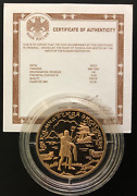Russia Gold Coin 100 Rubles 2003 The First Kamchatka Expedition+certificate