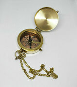 Lot Of 100 Pcs. Solid Brass Flat Pocket Compass Camping Navigational Gift Compas