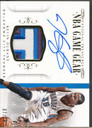 2014-15 National Treasures Game Gear Autograph Gold Kevin Durant Auto Jsy /10