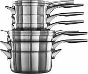 Calphalon Premier Space-saving Stainless Steel Pots And Pans, 10-piece Cookwa...