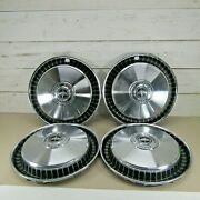 Vintage Set Of 4 15 Ford Motor Company Hubcaps