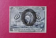 1863 U S Second Issue 10 Cents Fractional Currency