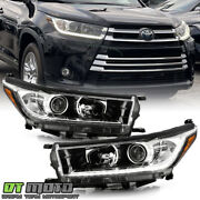 For 2017 2018 2019 Toyota Highlander W/ Led Drl Projector Headlights Headlamps