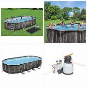 Above Ground Oval Pool 22andrsquo X 12andrsquo X 48andrsquoandrsquo Set W/ladder Filter Pump Repair Patch