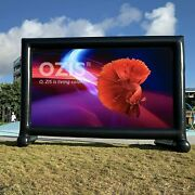 Ozis 14ft Inflatable Movie Screen Outdoor Supports Front And Rear Projection