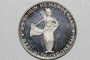 1970 Indonesia 500 Rupiah 999 Silver Coin Grades Proof Num5998