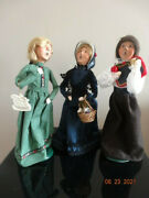 Byers Choice Lot Of 3 Carolers Women's Holiday 12