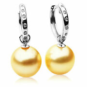 12mm Golden South Sea Pearl Earrings Australia Pacific Pearls® Anniversary...