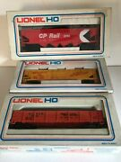 Three Lionel Ho Gauge Boxed Wagons Cp Rail Union Pacific Coal Old Dandrgw Grande