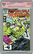 Incredible Hulk And Wolverine 1 Cbcs 9.4 Ss 1986