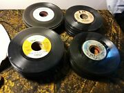 Lot Of 100+ Random 7 Vinyl Records 45 Rpm Playable Collection Starter Crafting