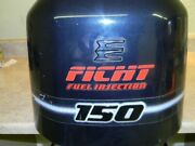284807 Johnson Evinrude 1997 Ficht Intruder Top Hood Cowl Cowling Cover 150 Hp