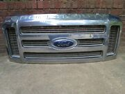 08 09 10 Ford F250 F350 Sd Front Grill Grille Assembly W/ Emblem Upper Chrome
