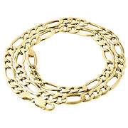 Genuine 14k Yellow Gold 8.50mm Solid Plain Figaro Link Chain Necklace 20-30 Inch