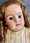 Antique 20andrdquo 1079 Simon Halbig German Bisque Doll W/original Body And Outfit