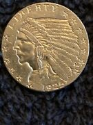 1925 Denver 2.50 Two Dollar And Fifty Cent Gold Coin Super High Grade